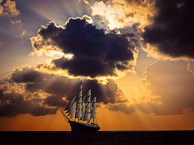 galleon ship on ocean painting