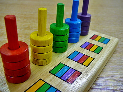 assorted-color wooden toy