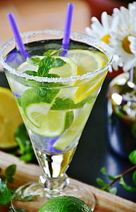 lemon in clear glass