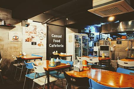 Casual Food Cafeteria interior view
