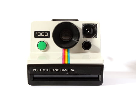 white Polaroid land camera