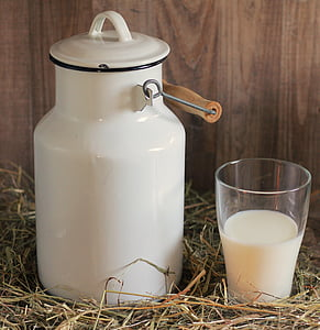white milk churn