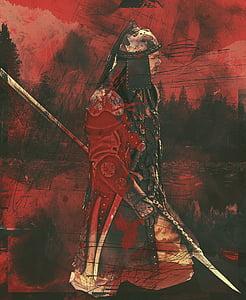 man warrior painting