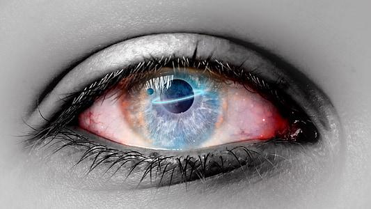 photo of blue eye