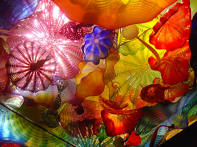 multicolored floral textile