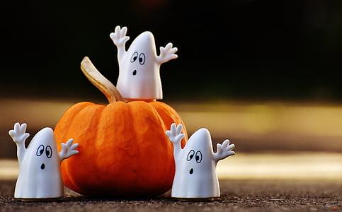 three white ghost figurines