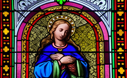 religious image stained glass decor