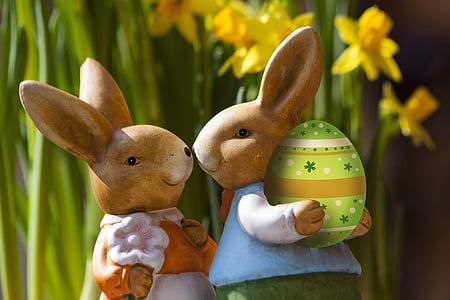two brown easter bunnies artwork