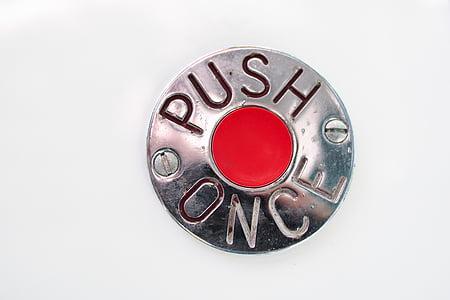silver-colored button