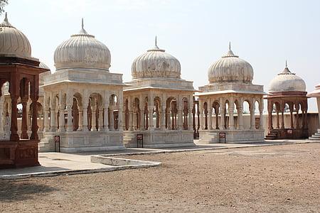 five white religous temples