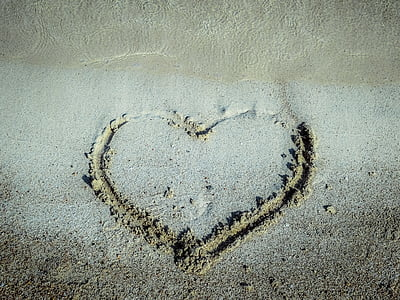 sand with heart shape