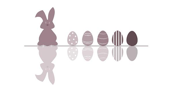brown rabbit and eggs illustration