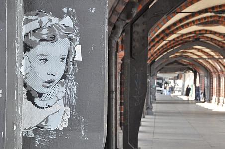 girl graffiti on gray concrete wall