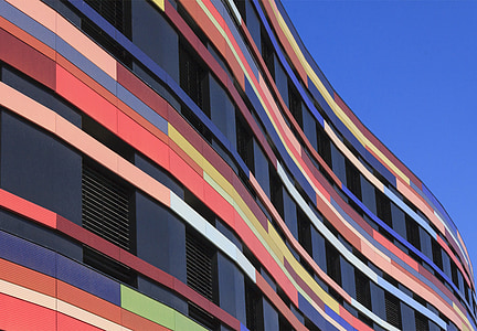 multicolored concrete building