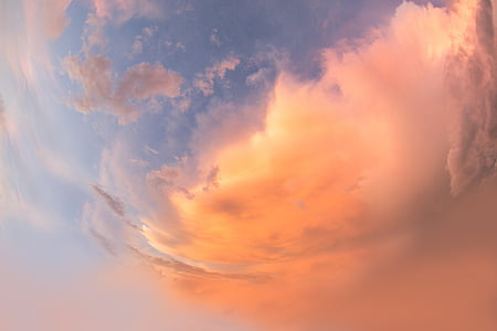 time lapse photography of sky