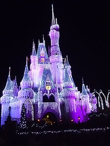 Disneyland castle with lights during daytime