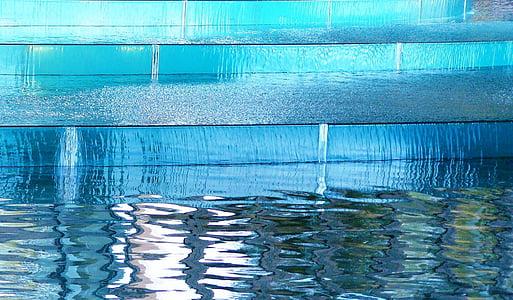 closeup photo of pool