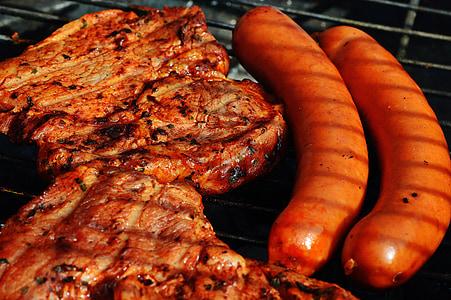 two pork and sausage