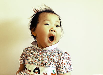 toddler wearing multicolored collared top