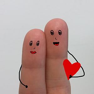two fingers hugging emoji art