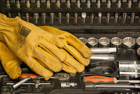 gloves on socket wrench