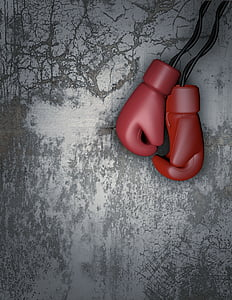 red training gloves earbuds