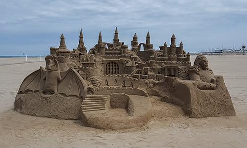 beige sandcastle