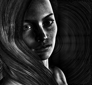 time lapse photography of a woman