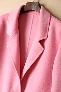 women's pink notched lapel blazer