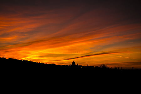 basilica, esztergom, sky, day s, sunset, clouds