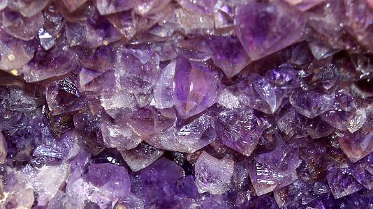 amethyst, semi precious stone, violet, blue, minerals, mineral