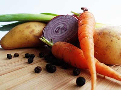 macro shot of vegetables