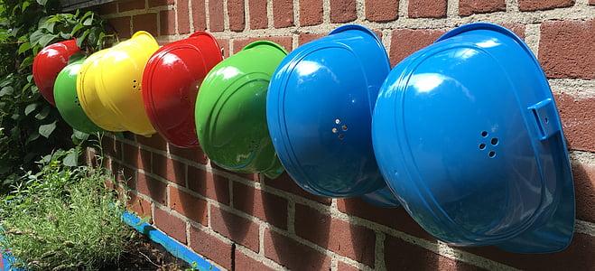 hard helmet hang on wall