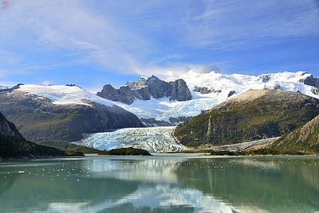 landscape photograph of glacier