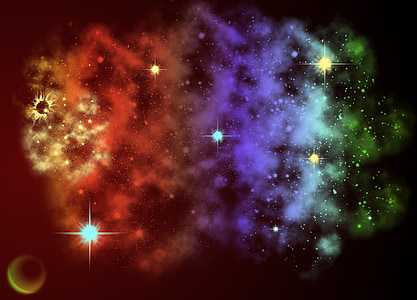 multicolored stars