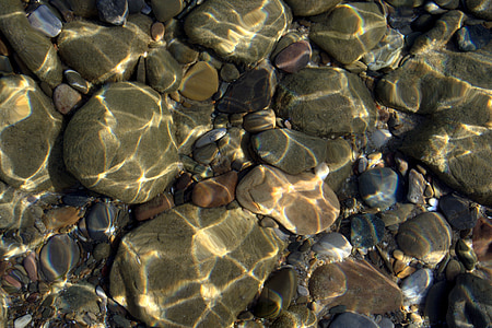 rocks submerge by water