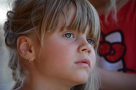 toddler girl's face