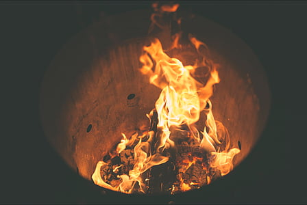 closeup photo of fire