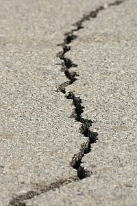 closeup photography of cracked gray concrete surface