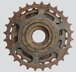 rusted gray sprocket