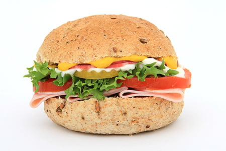 hamburger with cheese and vegetable