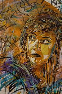 multicolored illustration of woman
