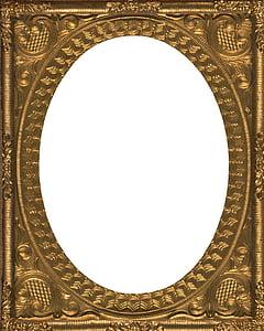 rectangular brass-colored photo frame