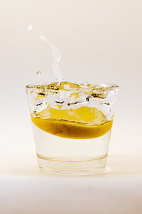 shot glass filled with water