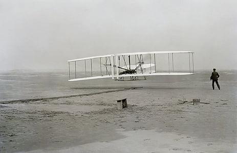 biplane near person