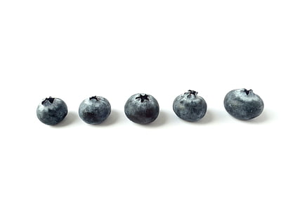 five blueberries
