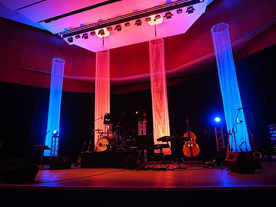 photo of stage before show