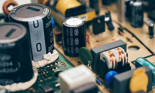 close up photo of computer parts