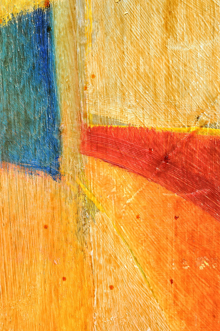 Royalty-Free photo: Yellow and multicolored abstract painting | PickPik
