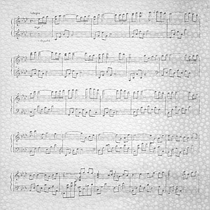 photo of music sheets